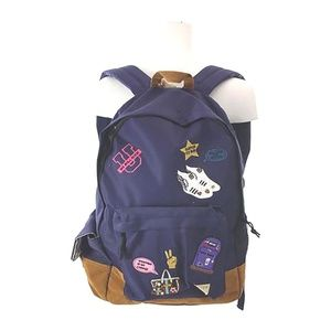 BUTTER SOFT GIRLS BLUE PATCH BACKPACK NWT